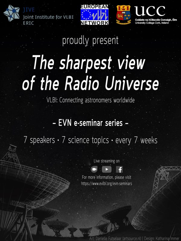 """EVN virtual seminars of """"The sharpest view of the Radio Universe"""" available online"""